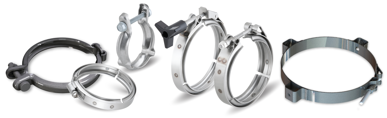 """Stainless Steel 2-1//2/"""" 64mm Exhaust Turbo Intake Clamp Heavy Duty T-Bolt Clamp"""